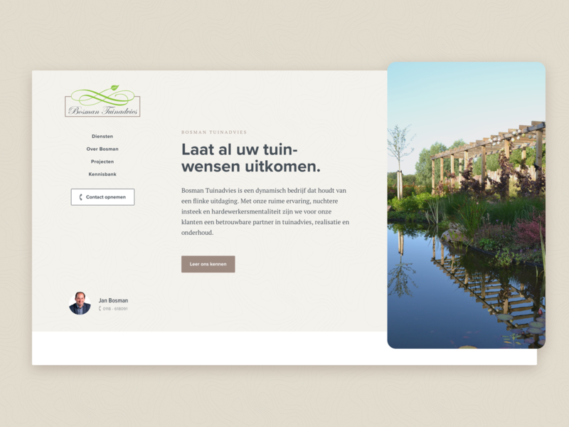 Gardening company header concept by mathijs dribbble dribbble