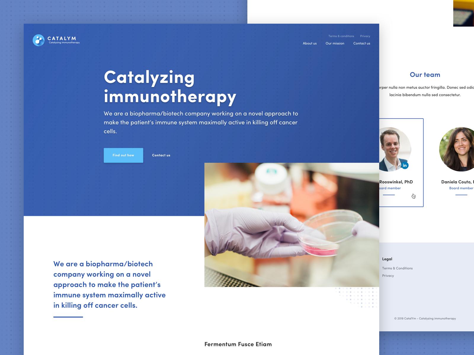Biotech Company Homepage