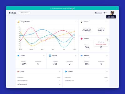 Dashboard App Concept (V2) flat design web clean homepage ui ux app application application ui layout typography website webdesign dash dashboard