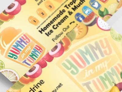 Yummy In My Tummy Ice Cream Parlor | Branding Identity print designer print media design business card designer design ice cream logo ice cream shop logo homemade ice cream logo ice cream shop yummyinmytummy yummy in my tummy