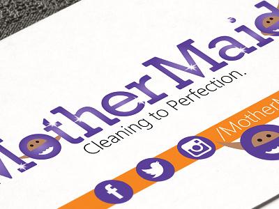 Mother Maidi Cleaning Company | Logo Design alexdogum dogumdesign freelance logo designs dmv logo designer dc logo designer maryland logo designer maryland graphic designer md graphic designer graphic designer maryland logo designer