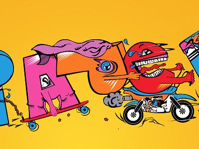 Paper Chasin' | Typography Illustration alexdogum dogumdesign freelance logo designs dmv logo designer dc logo designer maryland logo designer maryland graphic designer md graphic designer graphic designer maryland logo designer