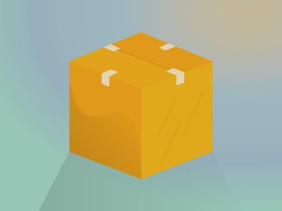Moving Box Illustration moving day perfect box isometric moving tape pixel perfect vector illustration moving box