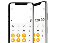 Daily UI #4/100 - Calculator ( Standard )