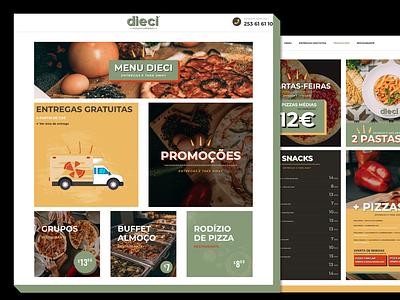 Dieci Pizzaria Expresso webdesign website