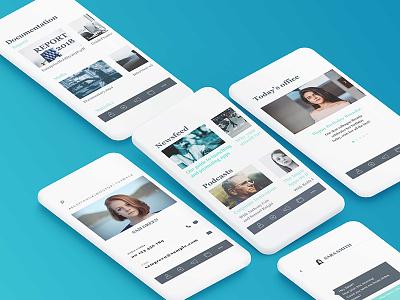Mobile Intranet App Template for Fliplet b2b apps directories newsfeeds internal apps