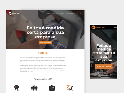 LPA, Corporate Wear website design identity branding