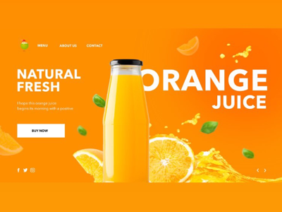 Concept for orange juice