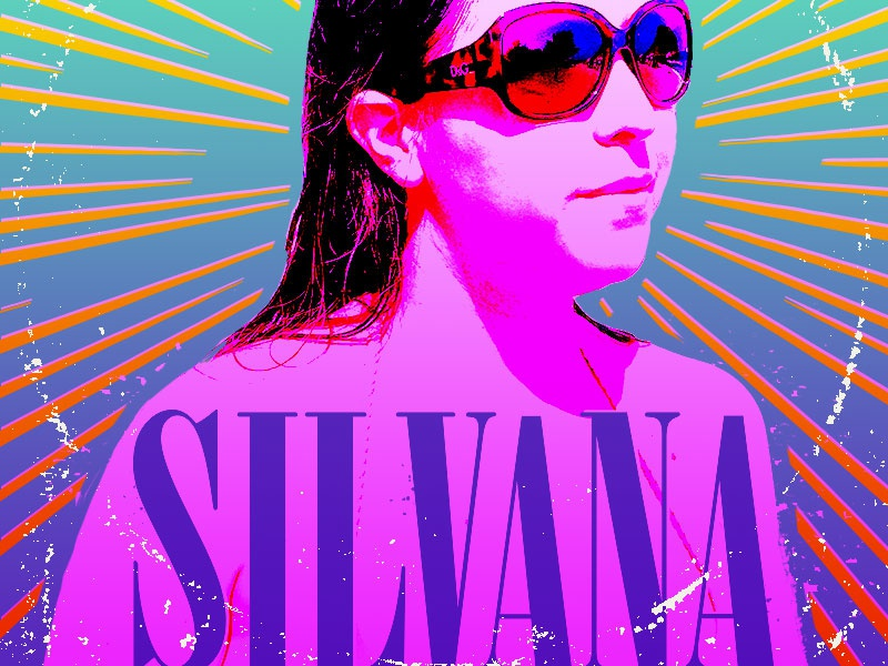 Silvana seattle nirvana album cover screenprint nineties rock and roll valentines