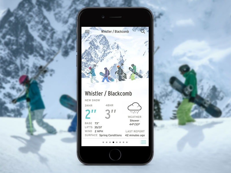 REI Snow Report iOS App rei weather ios outdoor app ui ux product design