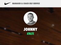 Nike team profile mobile