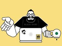 404 illustration caricature seattle branding illustration