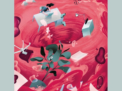 Menstruation in the workplace – II colour period menstruation editorial editorial illustration illustration