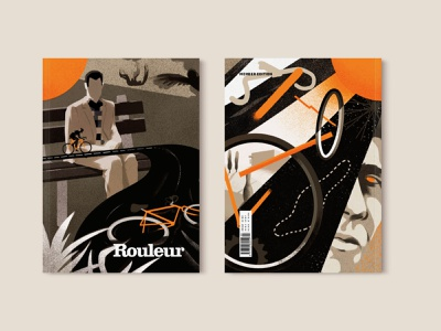 Rouleur texture editorial illustration movies bicycle editorial cycling rouleur graphic illustration