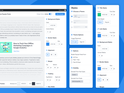 Popular Posts UI ui design icons styles ux product design productdesign product uiux ui