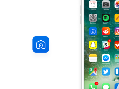 Daily UI - 005 - App Icon app icon daily ui lines mark brand logo zillow