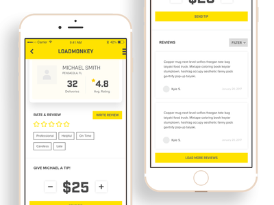 Daily UI - 006 - User profile mobile app mobile profile user profile daily ui app profile