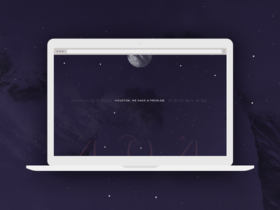 Daily UI - 008 - 404 Page 404