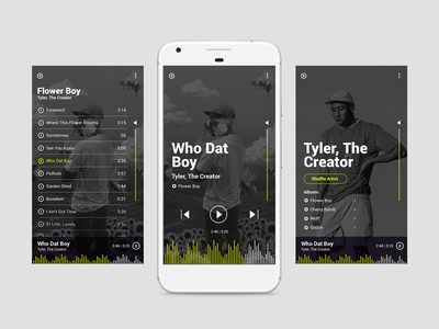 Daily UI - 009 - Music Player mobile app music app ux ui stream app