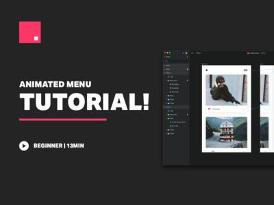 Invision Studio Tutorial - Animated Menu tutorial animation hamburger menu hidden menu animated menu invision studio tutorial studio invision studio tutorial
