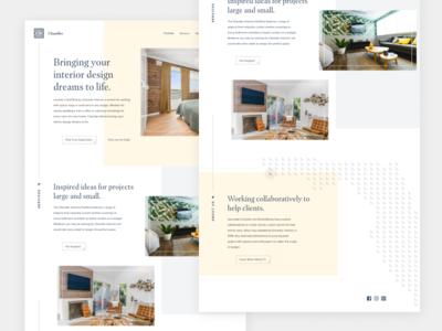 Interior Design Website grid layout webdesign website