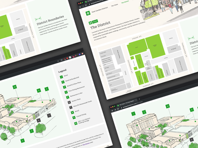 East Garden District Website illustraion web design website web