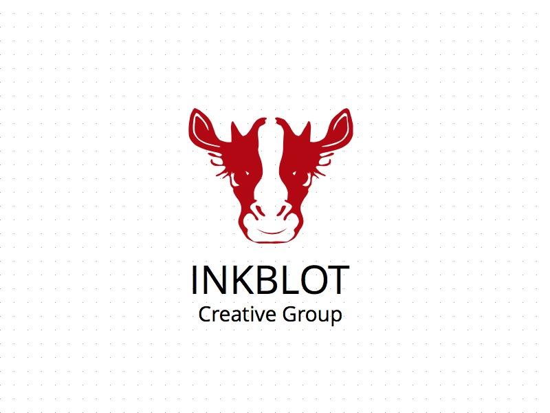 Inkblot squarespace logo fiction cow