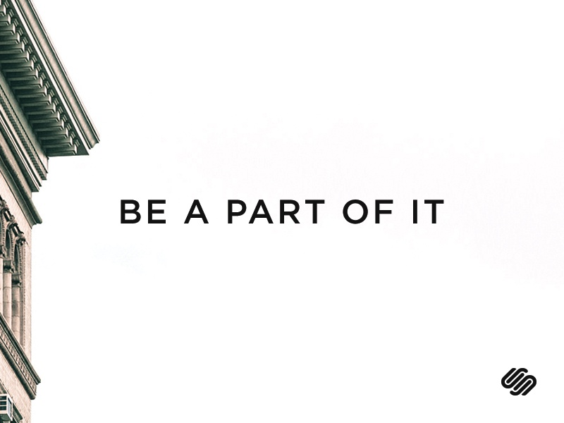 Be a Part of it squarespace jobs