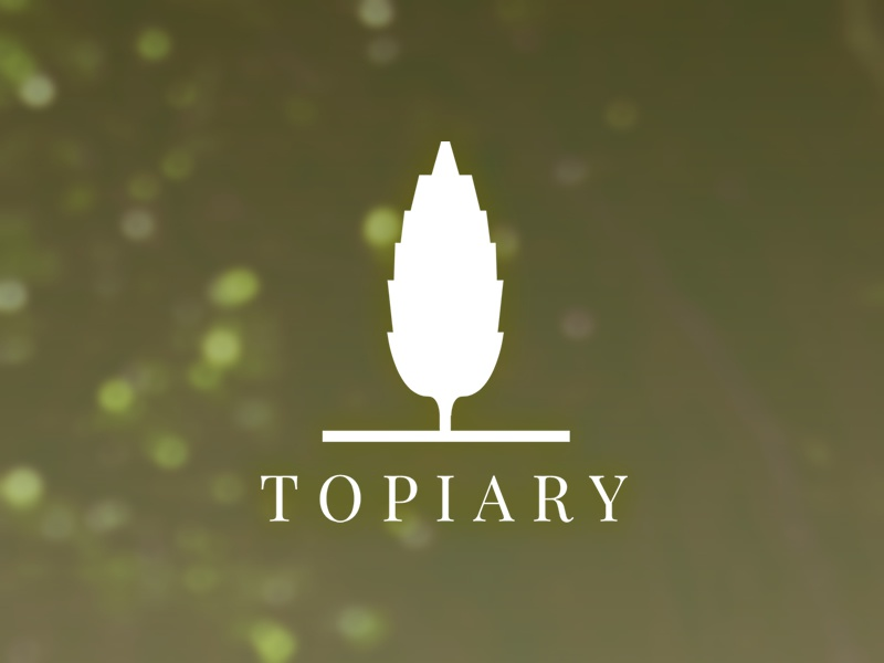 Topiary squarespace logo fiction tree topiary brunch thenounnproject