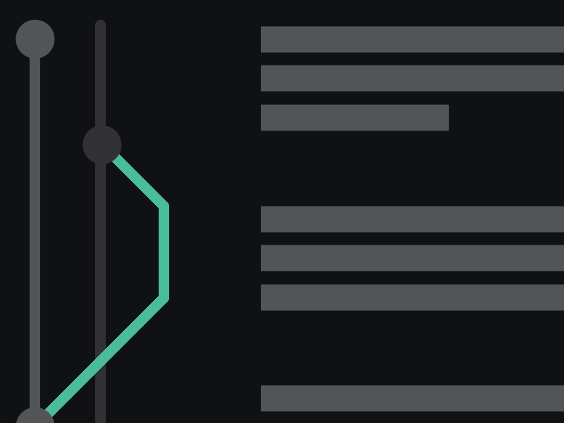Git Built In abstract green minimal simple dark