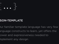 Json template feature card