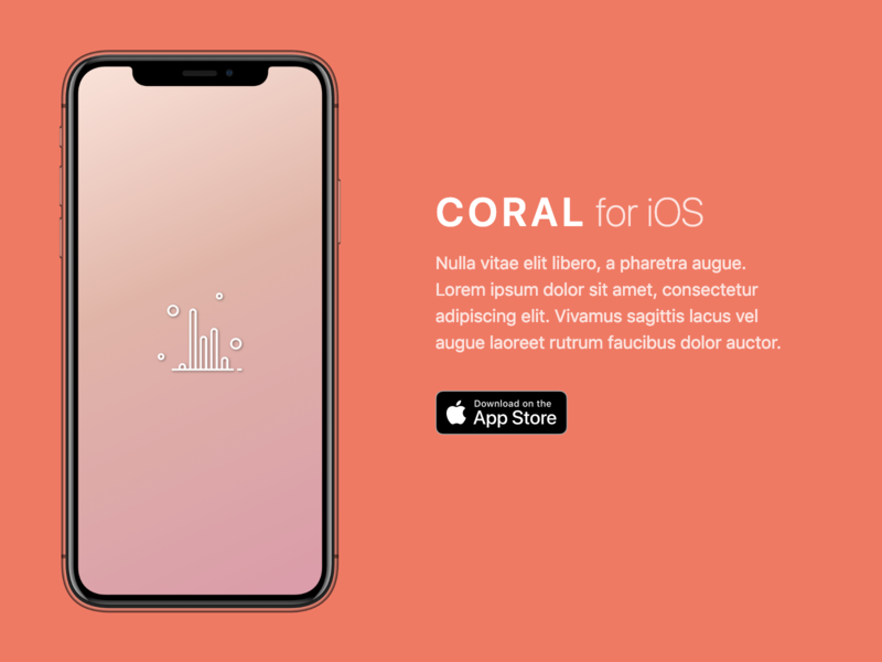 Fake App For Mock Landing tachyons coral fake app landing page