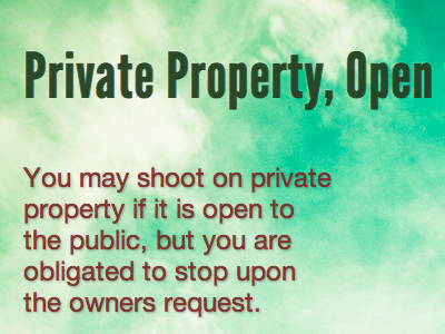 Private Property, Open