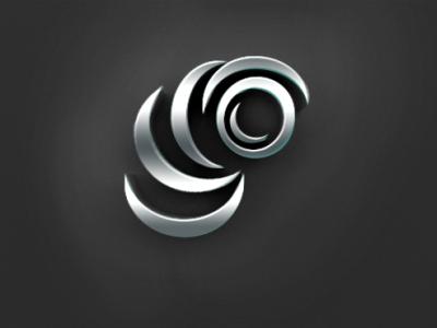 silver 3d metallic logo