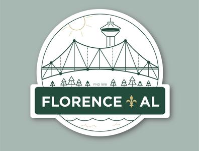 Sticker for Florence, AL
