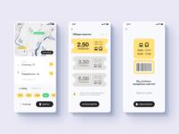 Smart Transport Ticket app tickets transport city public ios app minimal web icon design ux ui
