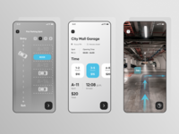 Car Parking App Concept auto car space parking location booking ios minimal vector typography web ux ui design app