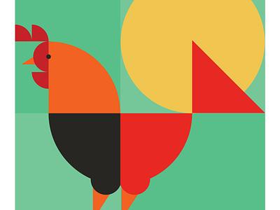 Rise and shine illustrationpractise digital illustration geometic geometric design shapes illustration