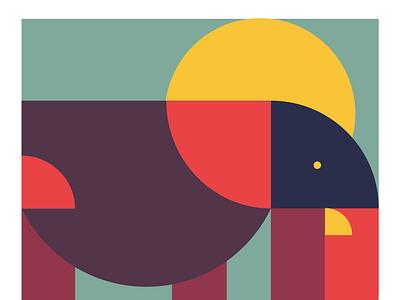 Elephantastic design geometic geometric design practise digital illustration basic shapes shapes illustration