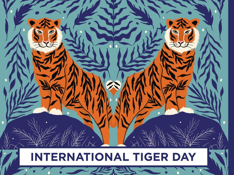 International tiger day awareness wwf striperoar saveanimals savetiger wild animal wildlife art wildlife internationaltigerday tiger digital illustration illustration