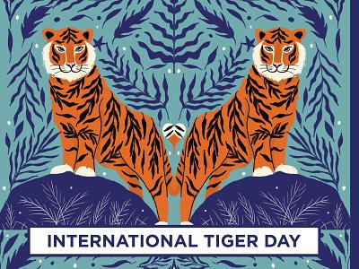 International tiger day awareness wwf striperoar saveanimals savetiger wild animal wildlife art wildlife internationaltigerday tiger digital illustration illustration
