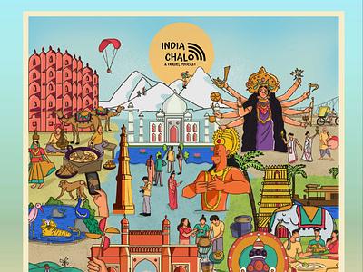 India chalo Podcast india travelpodcast podcasts design digital illustration illustration