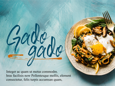 Gado-gado Food Poster - Fusha Brush Font typeface fonts handwritten font typografi handwritten flyer food poster