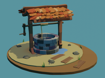 Lowpoly well