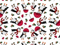 Puffins Pattern