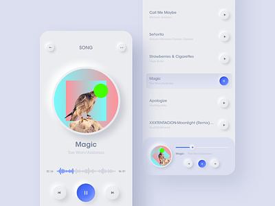 Music Player playlist mobile ios player listen trend clean interface app design ux ui music