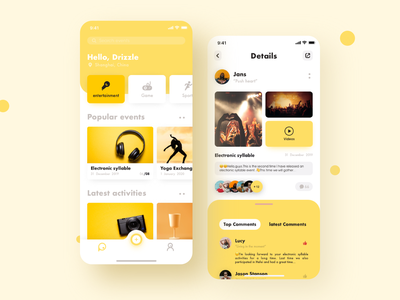 Weekend App animation young weekend entertainment ux ui sports social application release motion make friends interface icons design colors classification card app activity activiies