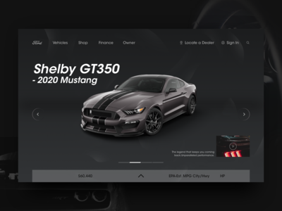 Ford Mustang official website redesign