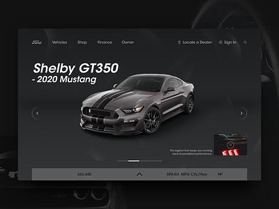 Ford Mustang official website redesign app cool concept commodity game website design ux ui speed logo import expensive dark buy branding black