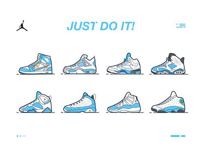 Nike Air Jordan球鞋 blue trainer style sports sneaker shoes i aj nike minimal lines kicks illustration icon gradient footwear fashion design jordan air